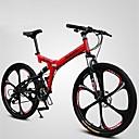 olcso Ultrabook-Mountain bike / Összecsukható kerékpár Kerékpározás 21 Speed 26 hüvelyk / 700CC Shining SYS Dupla tárcsafék Springer villa Soft-tail váz Szokásos Alumínium ötvözet / #