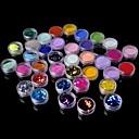 baratos Glitter tatuagem-36 pcs Glitter & Poudre / Pó acrílico / Kits de decoração Abstracto / Clássico Diário