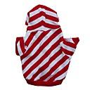billiga Hundkläder-Katt Hund Huvtröjor Vinter Hundkläder Andningsfunktion Röd Kostym Cotton Rand Ledigt / vardag XS S M L