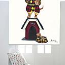 Χαμηλού Κόστους Απλίκες Τοίχου-μοντέρνο στυλ ελαιογραφία μάγος σκυλί roller σκιά