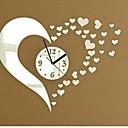 ราคาถูก นาฬิกาติดผนัง-นาฬิกาแขวนสติ๊กเกอร์สติ๊กเกอร์ติดผนัง, แฟชั่น 3d หัวใจกระจกอะคริลิสติ๊กเกอร์ติดผนัง