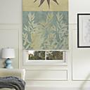 זול פלטה ותומך-Painting Style Botanic Green/Blue Roller Shade