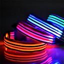 olcso Nyakörvek és pórázok-színes csíkok sorozat LED világító poliészter nyakörv macskák kutyák (különböző színben, méretben)