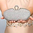 povoljno Naušnice-Žene Crystal / Rhinestone Metal Večernja torbica Kristalne vrećice od kristalnog kamena Zlato / Crn / Pink / Vjenčane torbe / Vjenčane torbe