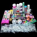 billiga dotting verktyg-82st akryl pulver flytande borst primer fil uv lim spik uppsättning kit