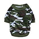 billiga Hundkläder-Katt Hund T-shirt Hundkläder Andningsfunktion Kamoflagefärg Kostym Cotton Kamouflage XS S M L
