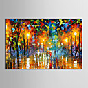 cheap Abstract Paintings-Oil Painting Hand Painted - Landscape Traditional Modern Stretched Canvas