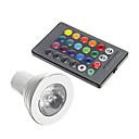 billiga LED-bi-pinlampor-1st 3 W LED-spotlights 250-300 lm GU10 1 LED-pärlor Dekorativ RGB 85-265 V