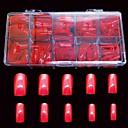 ราคาถูก เล็บปลอม-500 ชิ้นสีแดงขนาดใหญ่ที่ผิดพลาดเคล็ดลับเล็บเต็มรูปแบบครอบคลุมสำหรับเคล็ดลับการตกแต่งคริลิคนิ้ว