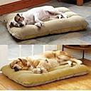 ราคาถูก ที่นอนและผ้าห่มสำหรับสุนัข-Large Dog Pet Nest with Lamb Suede Mat  70*50