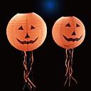 billiga Semesterartiklar-ond pumpa vänder papper 35cm lykta med långt skägg för halloween