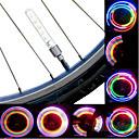 billiga Cykeldatorer och -elektronik-LED Cykellyktor Blinkande ventil hjul lampor Bergscykling Cykel Cykelsport Vattentät Bärbar Varning Enkel att sätta på Cellbatterier Batteri Cykling / IPX-4