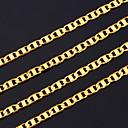 ราคาถูก เครื่องประดับศาสนา-สำหรับผู้ชาย สร้อยคอโซ่ เครือข่ายบาท สุภาพสตรี ดูไบ ทองแดง ทองชุบ สีเหลืองทอง สีทอง สร้อยคอ เครื่องประดับ สำหรับ ของขวัญวันคริสต์มาส ปาร์ตี้