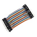 billige Koblinger & terminaler-DIY 1-pin hann til hann DuPont brødfjel jumper ledninger (40 stk / 10cm)