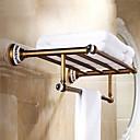 Χαμηλού Κόστους Φώτα νησί-αντίκες ορείχαλκο μπάνιο ράφι με μπάρα για πετσέτες