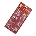 billige Labyrinter og logikkspill-7PCS Classic Knot Intellectual Deduction IQ Teaser Ring Puzzle Toy Instructions included