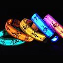 olcso Nyakörvek és pórázok-Cica Kutya Gallérok LED fények PU bőr Narancssárga Sárga Zöld