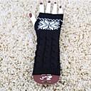 billiga Vinteraccessoarer-kvinnors hösten och vintern snöflingor utskrift stickning varma långa handskar