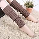 billiga Vinteraccessoarer-kvinnors hösten och vintern vertikala ränder stickning varma fötter strumpor