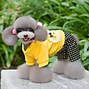 billiga Hundkläder-Katt Hund Kappor Hundkläder Rosett Stjärnor Gul Polär Ull Cotton Kostym Till Vinter Cosplay Bröllop