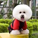 billiga Modeörhängen-Katt Hund Kappor Vinter Hundkläder Röd Kostym Polär Ull Cotton Cosplay Bröllop XS S M L XL