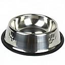 billiga Hundskålar ochutfodrare-liten rund rostfri skål hund