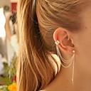 ราคาถูก สร้อยคอ-สำหรับผู้หญิง ต่างหูคลิป ข้อแขนหู ต่างหู Leaf Shape ถูก สุภาพสตรี ส่วนบุคคล เกี่ยวกับยุโรป แฟชั่น สง่างาม ชุบเงิน ต่างหู เครื่องประดับ สีเงิน / ทอง สำหรับ ปาร์ตี้ วันเกิด ทุกวัน ที่มา สำนักงานและอาชีพ
