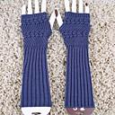 billiga Vinteraccessoarer-kvinnors hösten och vintern vertikala ränder stickning varma långa handskar