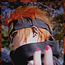 billiga Animekostymer-Naruto Cosplay Cosplay-peruker Herr 14 tum Värmebeständigt Fiber Orange Animé