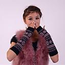 billiga Vinteraccessoarer-kvinnors hösten och vintern snöflingor stickning varma långa handskar