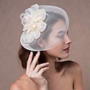 ราคาถูก ดอกไม้งานแต่งงาน-คริสตัล / ผ้า / ผ้าไหมแก้ว tiaras / fascinators / ดอกไม้ กับ 1 งานแต่งงาน / งานปาร์ตี้ / งานราตรี หูฟัง / หมวก