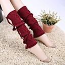 billiga Vinteraccessoarer-kvinnor danar prismatiska kontrollknappen stickning varma fötter strumpor