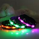 ราคาถูก ผ้าคลุมโซฟา-แมว สุนัข ปลอกคอ โคมไฟ LED การออกแบบการ์ตูน ไนลอน สีเขียว ฟ้า สีชมพู