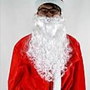 """povoljno Santa odijela & Božićna haljina-16 """"duga bijela deluxe kovrčava Djed Mraz bradom materijal pp"""