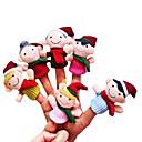 ราคาถูก ของเล่นวันคริสต์มาส-Finger Puppet แปลกใหม่ Cartoon สิ่งทอ เด็กผู้หญิง Toy ของขวัญ 6 pcs