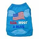 billiga Hästsvansar-Katt Hund T-shirt Hundkläder Blå Kostym Terylen Bokstav & Nummer XS S M L