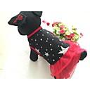 ราคาถูก สติกเกอร์ติดผนัง-สุนัข ชุดเดรสต่างๆ Dog Clothes สีดำ แดง เครื่องแต่งกาย ฝ้าย วัสดุผสม ดาว ง่าย / ประจำวัน XS S M L