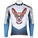 Χαμηλού Κόστους Τζάκετ Ποδηλασίας-ILPALADINO Ανδρικά Μακρυμάνικο Φανέλα ποδηλασίας Άσπρο+Ουρανί Σκύλος Ζώο Κινούμενα σχέδια Ποδήλατο Αθλητική μπλούζα Μπολύζες Ποδηλασία Βουνού Ποδηλασία Δρόμου / Αναπνέει / Γρήγορο Στέγνωμα / Αναπνέει