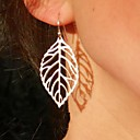 cheap Earrings-Women's Drop Earrings Leaf Cheap Statement Ladies Vintage Party Casual Fashion Earrings Jewelry Gold / Silver For Party Daily