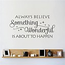 cheap Wall Stickers-Abstract Florals Vintage Words & Quotes Fantasy Wall Stickers Words & Quotes Wall Stickers Decorative Wall Stickers, Vinyl Home Decoration