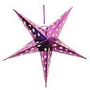 billiga Dekorationer-tredimensionella femuddig stjärna jul lampskärm (slumpmässig färg, 30cm)