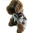 ราคาถูก เครื่องมือวัดระดับ-แมว สุนัข เสื้อโค้ต ฤดูหนาว Dog Clothes รักษาให้อุ่น สีเทา เครื่องแต่งกาย ฝ้าย S M L XL