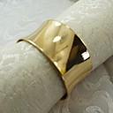 ราคาถูก แหวนผ้าเช็ดปาก-โลหะผสม ห่วงห่อผ้าเช็ดปาก Patterned เป็นมิตรกับสิ่งแวดล้อม ตกแต่งโต๊ะ 12 pcs