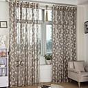 billiga Genomskinliga gardiner-skräddarsydda ren gardiner nyanser två paneler gyllene / bruna / jacquard / sovrum