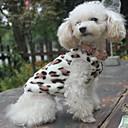 ราคาถูก อุปกรณ์เดินทางสุนัข-แมว สุนัข เสวทเชิร์ท ชุดนอน เสื้อขนแกะ ฤดูหนาว Dog Clothes สีดำ เครื่องแต่งกาย Polar Fleece ลายเสือ ง่าย / ประจำวัน XS S M L XL