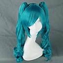 ราคาถูก วิกผมคอสตูม-Vocaloid Hatsune Miku วิกส์คอร์สเพลย์ สำหรับผู้หญิง 30 inch ไฟเบอร์ทนความร้อน การ์ตูนอานิเมะ