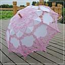 baratos Fantasias do Mundo Antigo-vintage adorável patchwork rosa fashional rendas battenburg bordado feito à mão flor guarda-sol nupcial menina guarda-chuva