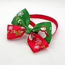 olcso Pet karácsonyi jelmezek-Cica Kutya Kötél / Csokornyakkendő Kutyaruházat Piros Pamut Jelmez Kompatibilitás Tavasz & Ősz Férfi Női Szerepjáték Esküvő Karácsony