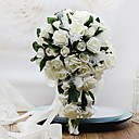 povoljno Cvijeće za vjenčanje-Cvijeće za vjenčanje Slobodni oblik Kaskada Roses Buketi Vjenčanje Party / Večernji Pjena