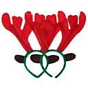 billiga Dekorationer-Juldekorationer älg huvud bågen (polygonal) (2st)